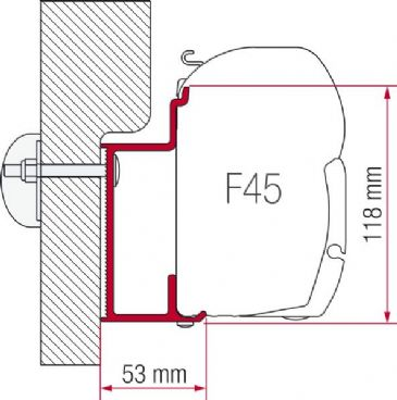 Fiamma Awning Adapter Eura Mobil Karmann